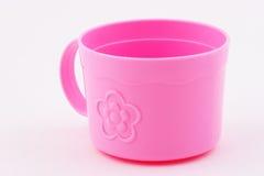 Taza rosada Fotografía de archivo libre de regalías