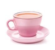 Taza rosada de té Foto de archivo libre de regalías