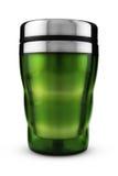 Taza térmica verde foto de archivo libre de regalías
