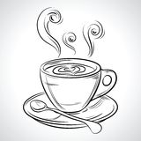Taza (taza) de bebida caliente (café, té etc Fotografía de archivo
