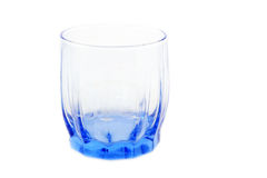 Taza transparente azul Fotos de archivo