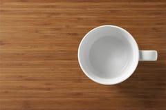 Taza vacía blanca Fotos de archivo