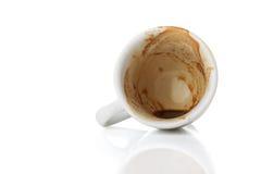 Taza vacía de café express Imagenes de archivo