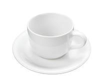 Taza vacía del café con leche Fotografía de archivo