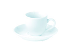 Taza vacía del café con leche Imagen de archivo