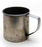Taza vieja del metal Imagen de archivo libre de regalías