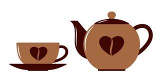 Taza y crisol de café Fotos de archivo libres de regalías