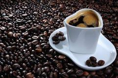 Taza y haba de Cofee Foto de archivo