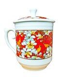 Taza y pintura de té Fotos de archivo libres de regalías
