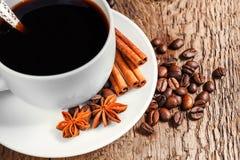 Taza y platillo de café Foto de archivo