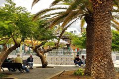 Tazacorte, het eiland van La Palma, Kanarie, Spanje stock foto's