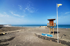 Tazacorte strand in La Palma, Canarische Eilanden, Spanje Royalty-vrije Stock Foto
