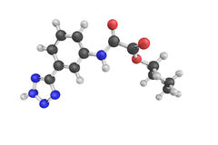 Tazanolast, een selectieve mast-cel-stabiliserende drug 3d model Royalty-vrije Stock Foto's