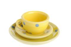 Tazas amarillas Fotografía de archivo libre de regalías