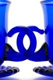 Tazas azules Foto de archivo libre de regalías