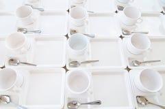 Tazas blancas foto de archivo
