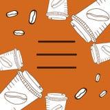 Tazas blancas para el café Imagen de archivo