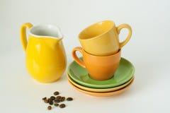 Tazas coloreadas Foto de archivo