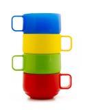 Tazas coloreadas Imagen de archivo