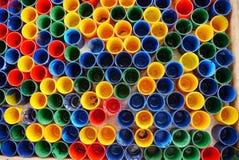 Tazas coloridas Fotos de archivo libres de regalías