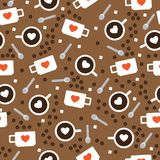 Tazas con café Fotografía de archivo libre de regalías