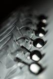 Tazas con las cucharas Fotografía de archivo libre de regalías