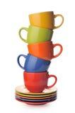 Tazas con los platillos Imagen de archivo