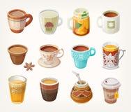 Tazas con té ilustración del vector