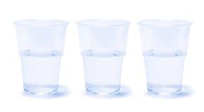 Tazas de agua Fotos de archivo