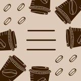 Tazas de Brown para el café imagen de archivo