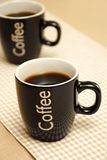 Tazas de café foto de archivo libre de regalías