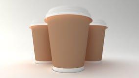 Tazas de café. Fotografía de archivo libre de regalías