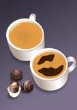 Tazas de café libre illustration