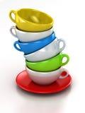 Tazas de café Ilustración del Vector