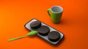Tazas de café imagen de archivo