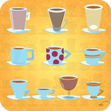 10 tazas de café imagen de archivo libre de regalías