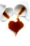Tazas de café aisladas en blanco Fotografía de archivo libre de regalías
