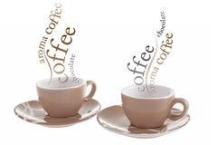 Tazas de café caliente Fotos de archivo