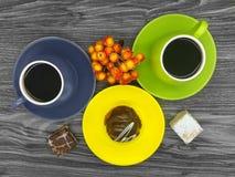Tazas de café coloridas Imagenes de archivo