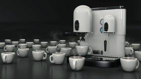 Tazas de café con blanco Imagen de archivo libre de regalías