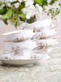 Tazas de café de China del vector de la boda Foto de archivo