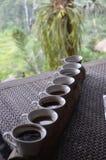 Tazas de café de Kopi Luwak Foto de archivo libre de regalías