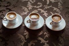 Tazas de café del café express Foto de archivo