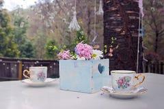Tazas de café del vintage Imagen de archivo libre de regalías