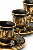 Tazas de café griegas Imagen de archivo libre de regalías
