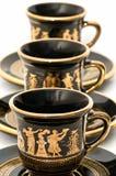 Tazas de café griegas Imágenes de archivo libres de regalías
