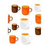 Tazas de café inconsútiles Fotografía de archivo libre de regalías