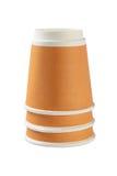 Tazas de café invertidas Fotografía de archivo