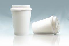 Tazas de café a ir Foto de archivo libre de regalías