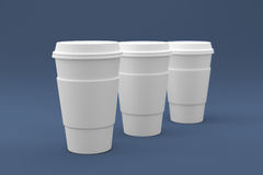 Tazas de café listas para su logotipo Imagen de archivo libre de regalías